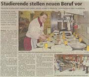 28.02.2011  Studierende stellen neuen Beruf vor  Hessische Küchenchefs tagten beim Zweigverein der Köche in Marburg