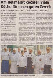 Nachberichterstattung Oberhessische Presse zum 22.11.2009 Am Heumarkt kochten viele Köche für einen guten Zweck...