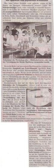 27.09.2009  Sonntag Morgenmagazin - Köcheverein goes Molekular: Von Speckluft und explosivem Kressesalat