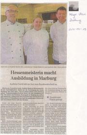 19.04.2010  Hessenmeisterin macht Ausbildung in Marburg