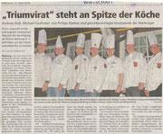 21.04.2010  Triumvirat steht an der Spitze der Marburger Köche  Andreas Buß, Michael Faulhaber und Philipp Starker sind gleichberechtigte Vorsitzende der Marburger Köche.