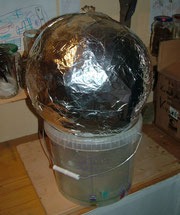 0,5m Kugelkondensator - 1. Alufolienschicht