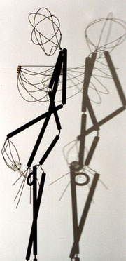 No Going Back. 1997. Timber, wire, plastic, glass. 200 x 30 x 30cm. Owned by the artist. © Charles Rocco