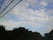 今朝の永福町はどよんとしたお空