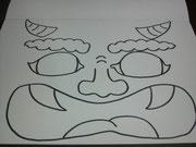 イベントで使う「鬼のお面」を描きました