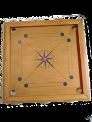 Carrom artisanal motif rose des vents