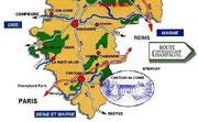 Route de champagne autour de Château-Thierry
