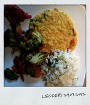 Ayurvedisches Gericht, gekocht von JETTESYOGA