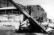 Hangars et avions détruits - Juin 1940