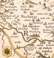 Übersichtskarte 1645/1662.