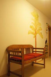 Baum im Obergeschoss
