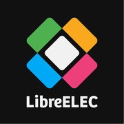 Logo du système d'exploitation LibreELEC pour raspberry PI kodi box tv multimédia