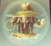 Mutter Erde und ihr Volk! Foto aufgen. im Museum of Art in London (1982)