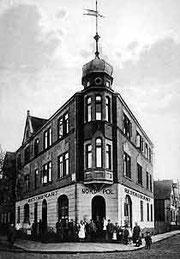 Gaststätte Nordpol an der Marienfelder Straße diente zeitweise der SPD als Parteillokal. Foto ca. 1925