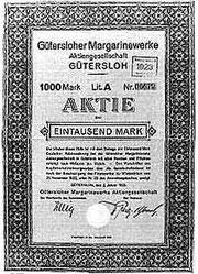 Margarine-Aktie