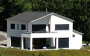 iQClassic Fassadenfarbe bei Neubau.