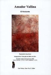 """Amador Vallina: exposición individual """"El Horizonte"""", Sóller, Mallorca"""