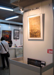 Stand de Amador Vallina en la Feria de los Artistas en Madrid