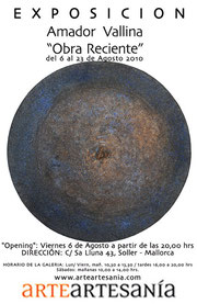"""Amador Vallina: Ausstellung """"Obra Reciente"""", ArteArtesanía, Sóller"""
