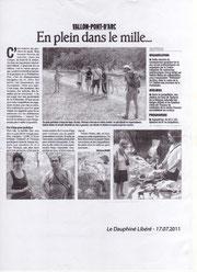 Le Dauphiné libéré 17/07/2011