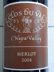 Clos Du Val Merlot 2004