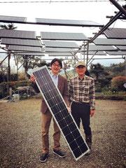 今後のソーラーシェアリングの主力70Wソーラーパネル