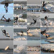 Winter Kitesurfen Warnemünde