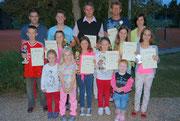 Die Sieger der TCA-Clubmeisterschaften 2013 mit Tennisnachwuchs