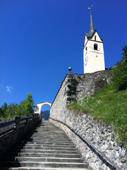 The wonderful church of Tomils, where concerts of Domleschger Sommerkonzerte take place each summer