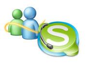 Icone Messenger e Skype