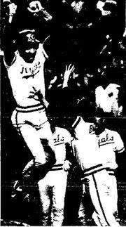 Willie Wilson scored the winning run in the 10th.