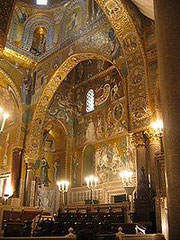 "The magnificient Chapel, inside ""Palazzo dei Normanni"""