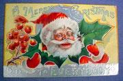 Postkarte mit Weihnachtsmannmotiv