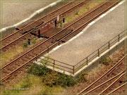 Geländer am Bahnsteig Lanckenau