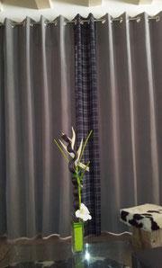 Rideau,laine,atelier de marie