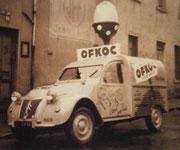 "Citroën 2 CV AZU ""OFKOC l'oeuf pour tous""  1954"
