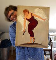 Andrea Beckdorf und ihr Engel