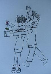 """""""Diese Hauswurz wird so eingeordnet, wie ICH es für richtig halte!"""" - Cartoon: E. Werner"""