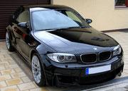 BMW 1er M Coupe schwarz