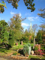 Blick über den Friedhof