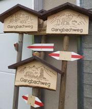 Wegweiser Gangbachweg Orchideenweg