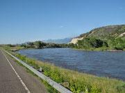 Richtung Gardiner entlang Yellowstone River