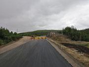 über die alte Strasse nach Red Bay - die Neue ist noch im Bau