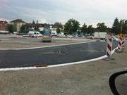 Bauarbeiten für die neue Straße