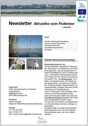 Newsletter des NABU-Naturschutzzentrums Federsee