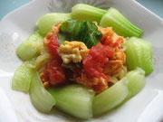 完熟トマトとたまごの中華涼麺