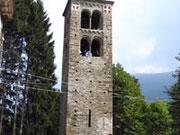 foto: di  Germano Torreno, La torre campanaria di Ceres risalente al XII secolo,Torino,Italia