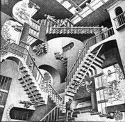"""""""En fait, c'est du Escher !"""" (p.28)"""