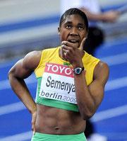 Die Leichtathletin Caster Semenya