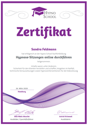 Zertifiziert für Online-Sitzungen